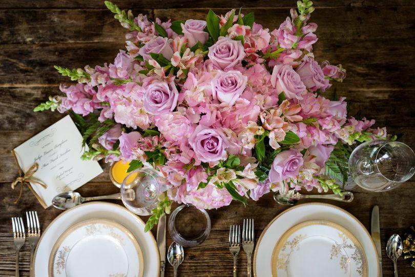 Soft pink flower decors