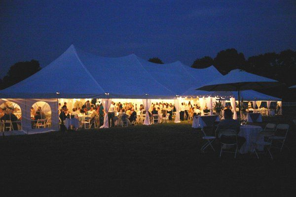 Evening tented event