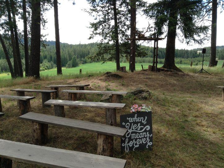 Ceremony area (woods)