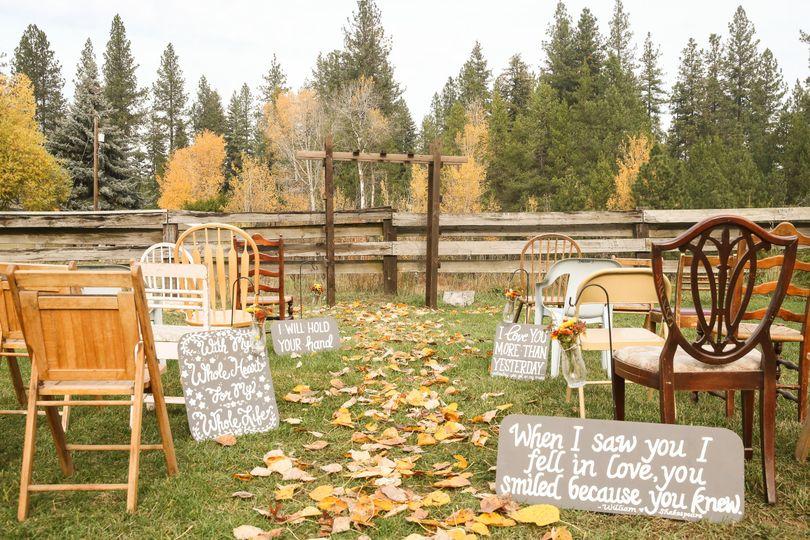 Ceremony area (field side)