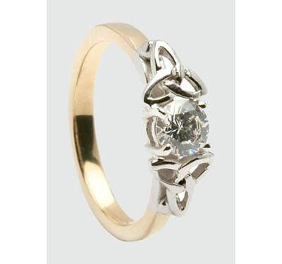 Half Carat Diamond Trinity Knot Engagement Ring.  Made in Ireland