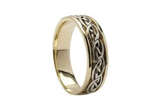 Just beautiful! Irish made Celtic Knot wedding band. This Celtic Knot has no end and symbolizes love...