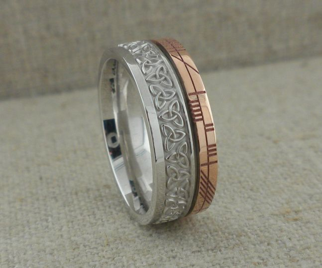 Ogham wedding ring