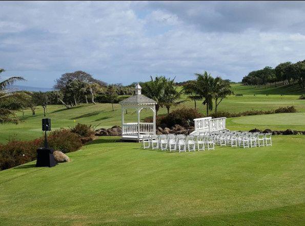 Outdoor wedding setup