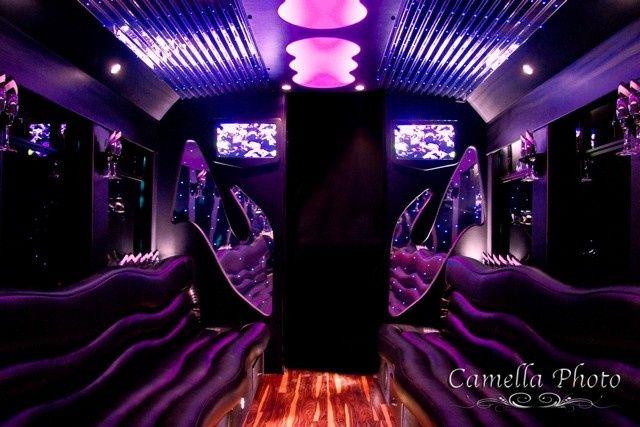 Tmx 1430853357918 El24 White Limo Party Bus   Interior 4   Pinterest Saint Louis wedding transportation