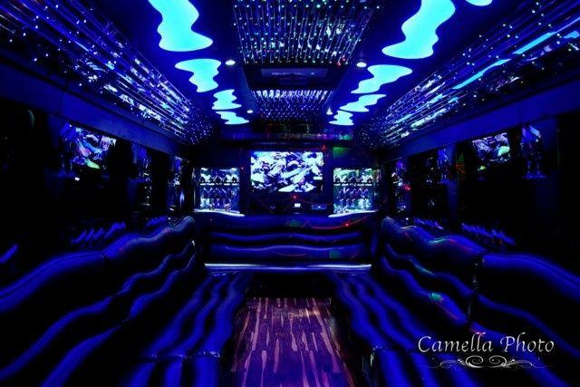 Tmx 1430853694427 El30 White Limo Party Bus   Interior 1  Pinterest Saint Louis wedding transportation