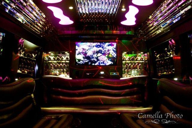 Tmx 1430853699649 El30 White Limo Party Bus   Interior 3   Pinterest Saint Louis wedding transportation