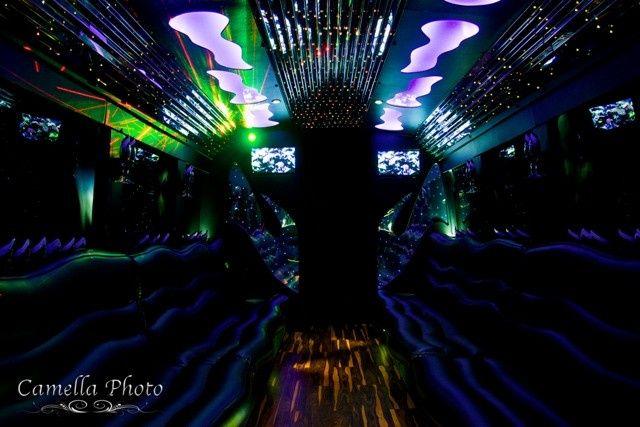 Tmx 1430853702090 El30 White Limo Party Bus   Interior 4   Pinterest Saint Louis wedding transportation