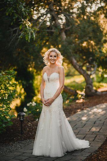 Bride in golden light