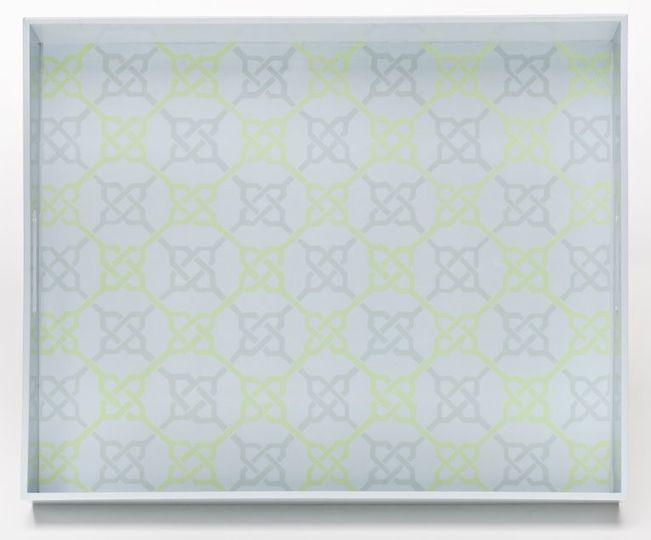 Links Pattern in BLue/Green