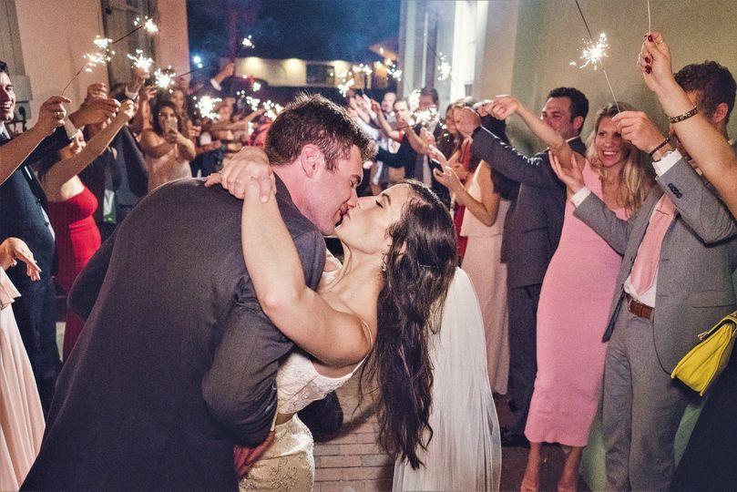 Great wedding exit