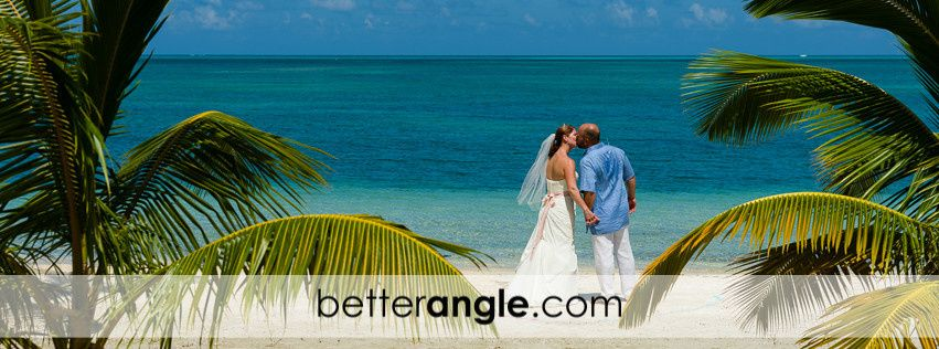 A morning beach wedding at a private villa, North Side, Grand Cayman