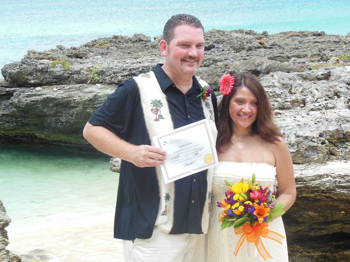 Wedding Vow Renewal for a couple at my secret Cove, Grand Cayman