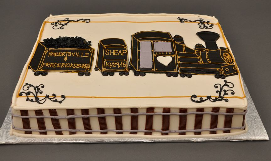 Train themed cake