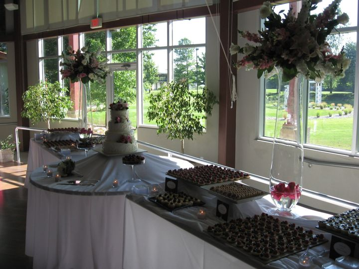 Dessert station indoors