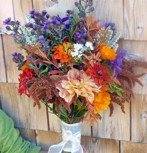 Late-summer Dahlia bouquet from Dan's Flower Farm, Sedgwick Maine