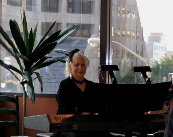 Phyllis Lynch on Keyboard at Terrace Restaurant, Indianapolis.