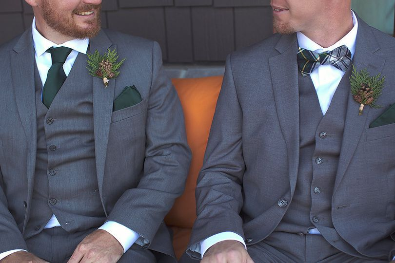 Matching grey suits