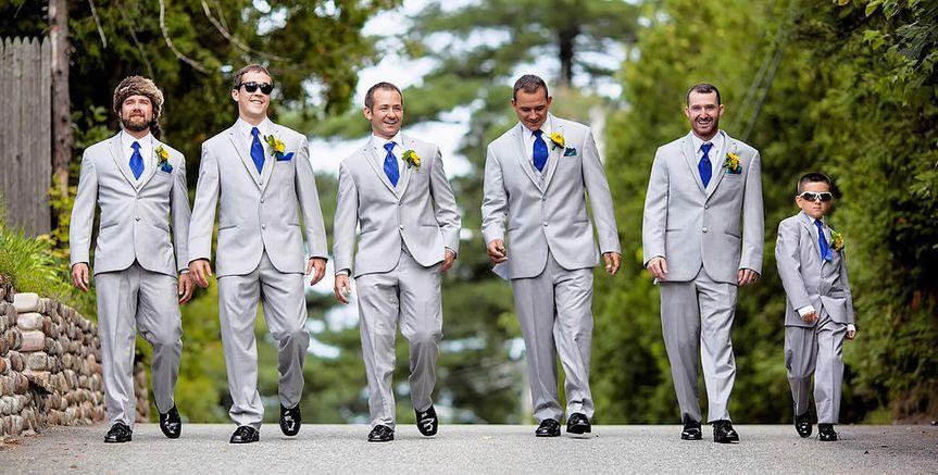 Groom, groomsmen, and ring bearer