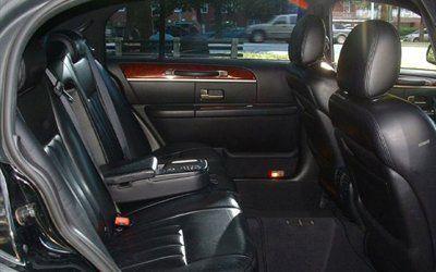 Inside Town Car