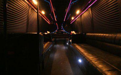 Inside Limo Bus