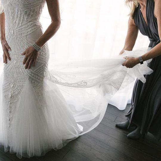 Bride's wedding gown - rebecca denton photography