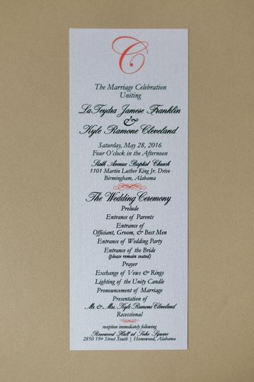Simple Ceremony Program