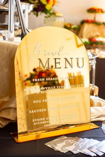 Custom Acrylic Brunch Menu