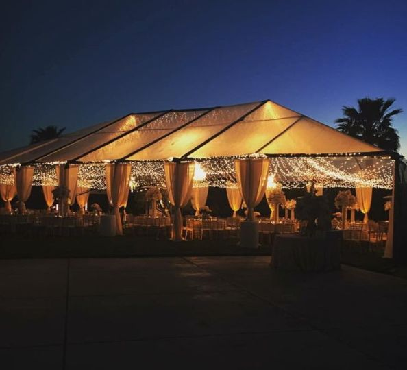 Well lighted tent