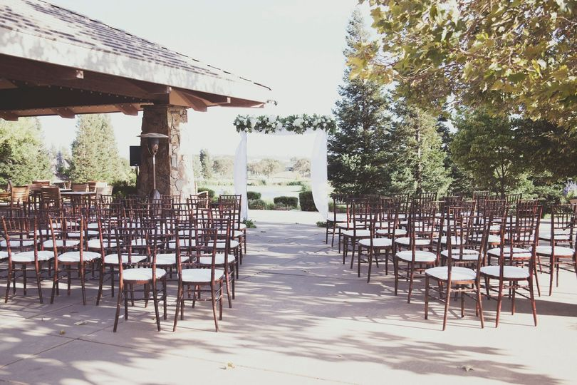Ceremony with Lake View