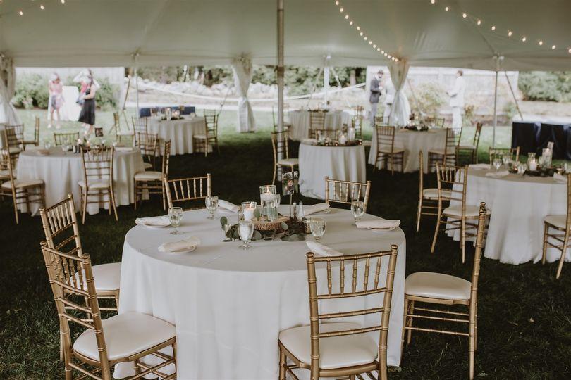 Reception under tent