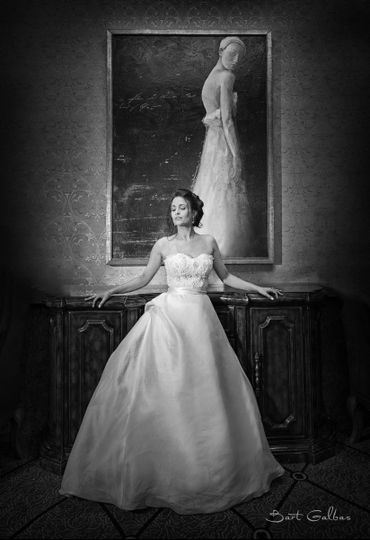 Wedding Photography Bridal Portrait at the Wedding Venue