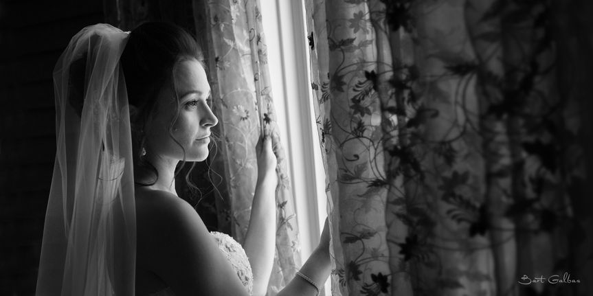 Wedding Photography Bridal Portrait in Black and White