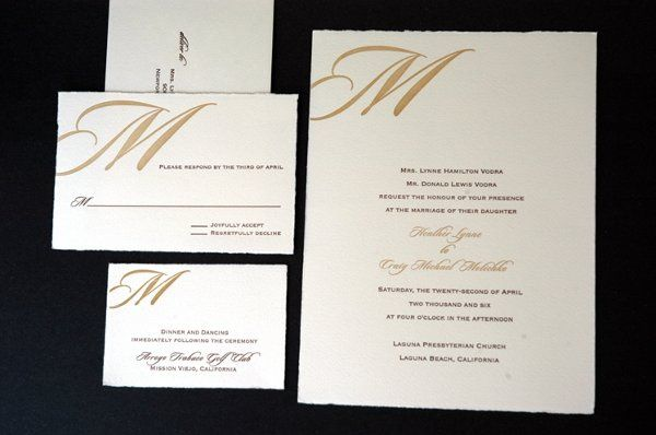 Classic lines and a contemporary feel let this invitation focus on the importance of two becoming...