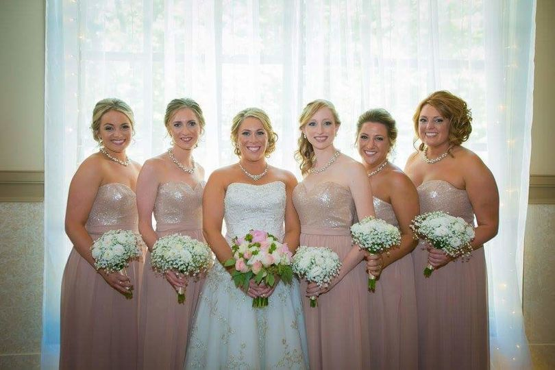 Formal photo of bride and bridesmaids