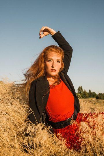 Posing in the field