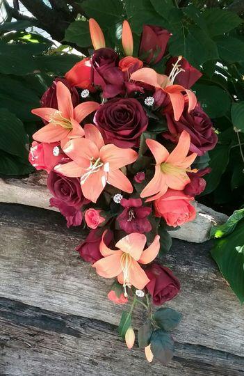 Fall Brides Cascade Bouquet