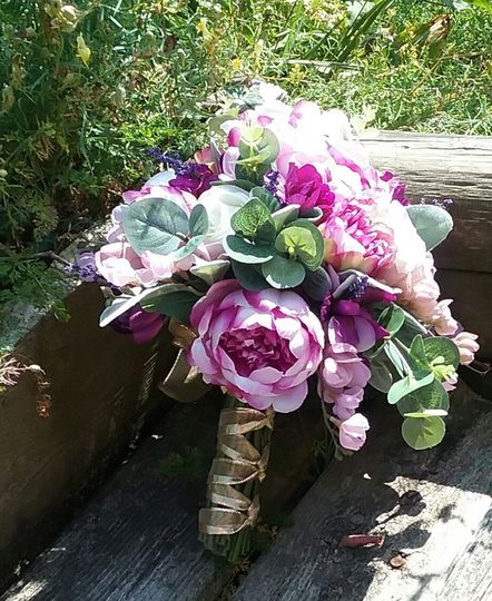Peony cluster bouquet