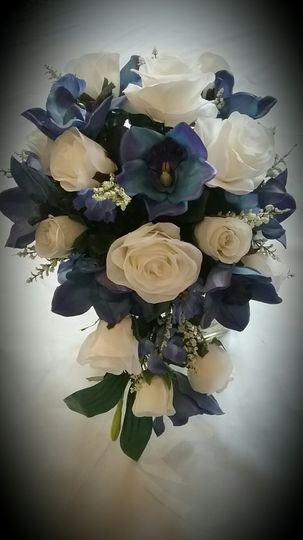 Blue Orchid and Rose Cascade