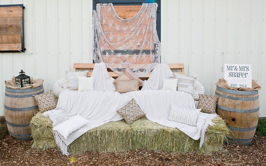 haybale couch rustic country wedding copy 2 copy