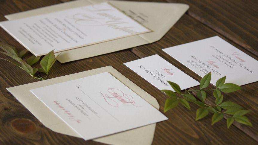 script wedding invitations evansviile indiana2