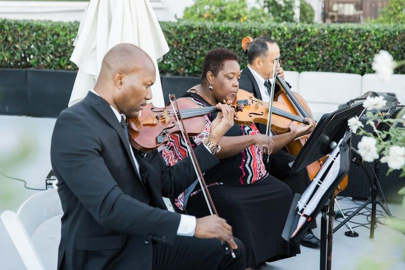 String trio at an outdoor Coyote Hills Fullerton CA