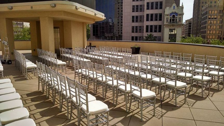 Silver chiavari ballroom chairs