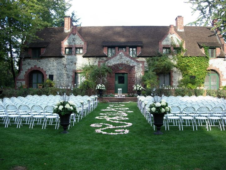 The iconic Cottage Lawn- Ceremony Site