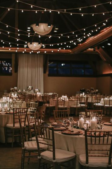 Romantic candlelight reception