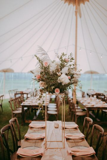 Beautiful tall centerpieces