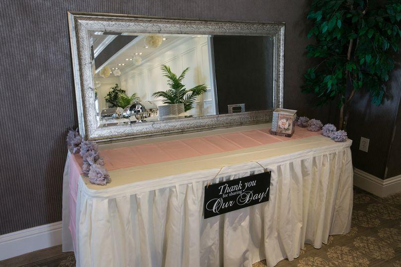 Wedding freebies table
