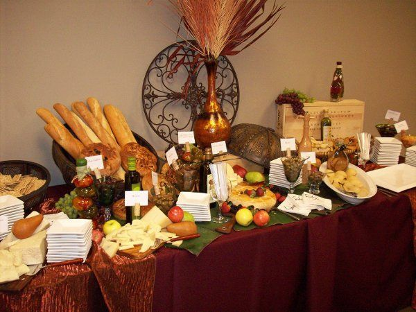 fruits and bread display