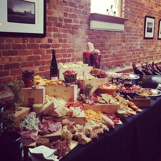Meat and cheese display