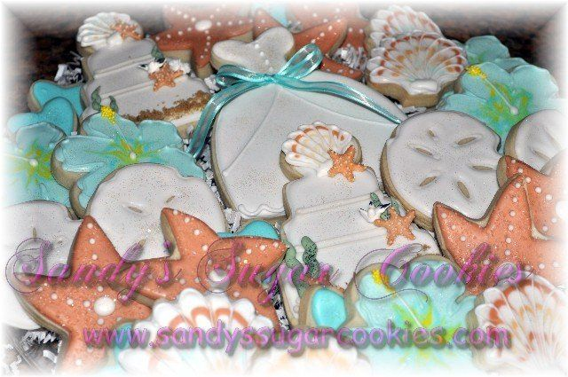 """This is a complete """"Gift Platter"""" with the same beach theme for a wedding reception, large wedding..."""